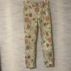 Floral jeans (Pilcro Anthropologie brand)